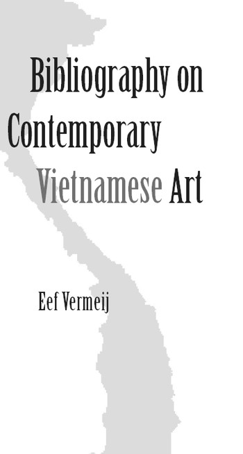 Bibliography on Contemporary Vietnamese Art