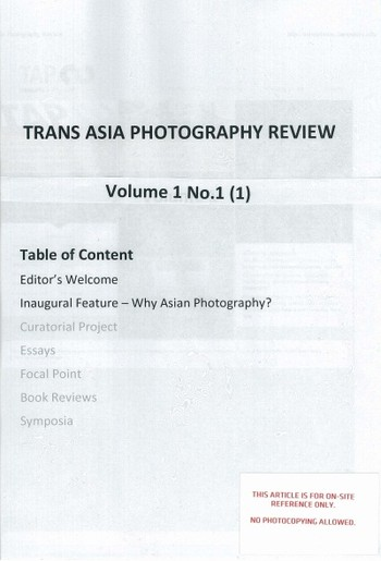 Trans Asia Photography Review (All holdings in AAA)