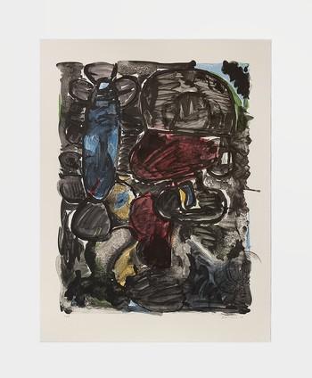 Eddie Martinez,《Fine Ants (Black Out)》,2018年。由藝術家和Perrotin提供。