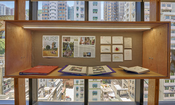 Image: Installation view of <i>Crafting Communities</i>,Asia Art Archive, 2020. Photo: Kitmin Lee.
