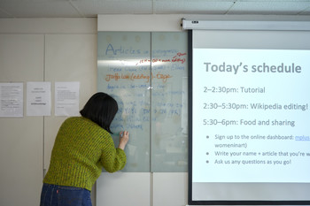 Image: <i>Art+Feminism: Wikipedia Edit-a-thon 2020</i>, 7 March 2020. Photo: Winnie Yeung@iMAGE28