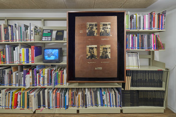 Image: Installation view of <i>Learning What Can't Be Taught</i>, AAA Library, 2021. Photo: Kitmin Lee.