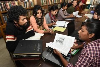 Library work at Charukala, 9 Dec 2015.