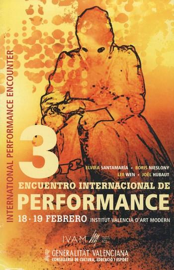 圖片:《國際表演會議》,海報,2005年。李文檔案,亞洲藝術文獻庫藏品。由李文的遺產管理人提供。