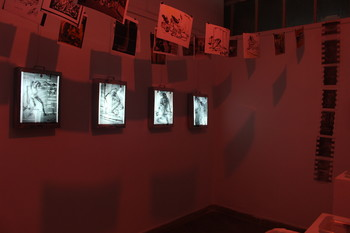 Image: Installation view of 'Dark Room of History' by Sumon Wahed. Courtesy of Sumon Wahed.