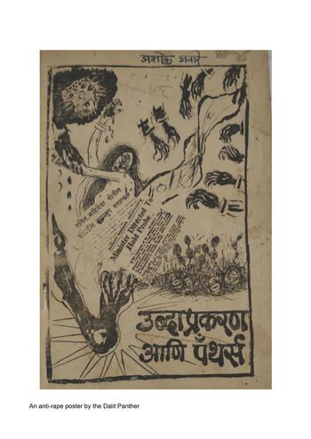 Image: 'Ubda Prakaran Ani Panthers' an anti-rape poster by the Dalit Panthers. Courtesy of Ramesh Shinde's Collection.