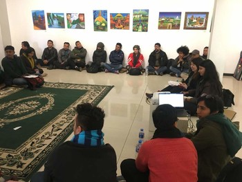 Sharing Session with Independent Art Organisations in Kathmandu.