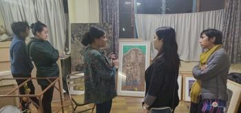 Visit to Bindu Studio, in conversation with Saurganga Darshandhari.