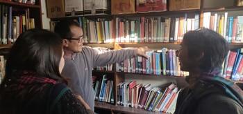 Visit to Martin Chautari Library.