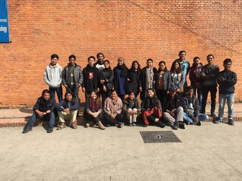 Visit to Tribhuvan University, with BA Fine Arts Students.