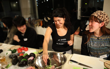 Image: Julieta Aranda's AIT discussion and dinner event, THIS IS A GEOGRAPHY LESSON, 2013.