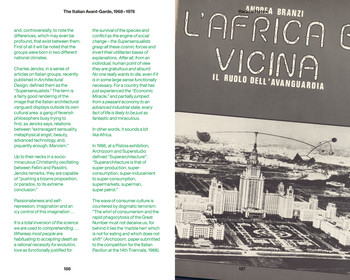 "Image: Frontispiece of Andrea Branzi, ""L'Africa è vicina,"" <i>Casabella</i>, no. 364, 1972. From Andrea Branzi, ""Radical Notes,"" in <i>EP1: The Italian Avant-Garde, 1968–1976</i>, Berlin: Sternberg Press, 2013."