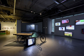 Installation view of 'Mobile M+: Moving Images'. 27 February – 26 April, 2015.