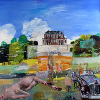 Chateau du Marechal de Saxe, Bentley and Lehman Brothers, 2009, oil on canvas
