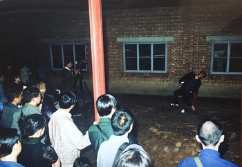 Image: China–Japan Performance Art Exchange Project, 1999, Beijing. Courtesy of Ma Liuming.