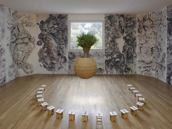 Image: Sandi Hilal and Alessandro Petti, <i>The Tree School</i>, installation view from Fundação de Serralves, Porto, 2014. Courtesy of the artists.
