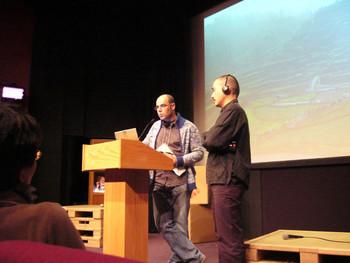 <i>Speakers</i> Laurent Gutierrez and Chen Tong.