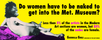 Image: Guerrilla Girls, <i>Do Women Have To Be Naked To Get Into the Met. Museum</i>.