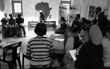 Image: Creative writing workshop with Maia Marie, as part of Keleketla! Library's After School Programme (KASP), 2010. Photo: Rangoato Hlasane.
