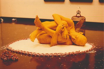 Image: Lee Wen, Journey of a Yellow Man No. 6: History and Self, 1995. Lee Wen Archive, Asia Art Archive. Caption (in context)
