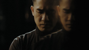 Image: Ho Tzu Nyen, <i>The Nameless</i>, synchronized double channel HD projections, 21 min, 51 sec, 2015.