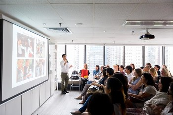 Image: Mapping Asia talk by Wong Hoy Cheong for AAA brunch during Art Basel HK, 2014.