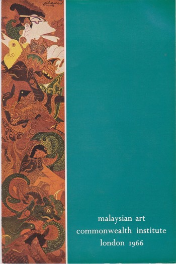 Image: Catalogue cover of <i>Malaysian Art</i> (1966).
