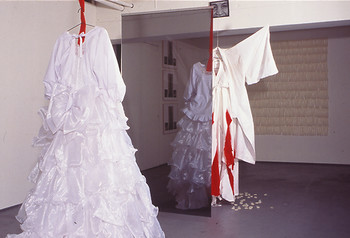 Image: Shimada Yoshiko, <i>Look at Me, Look at You</i>, 1996. Installation at Ota Fine Arts.