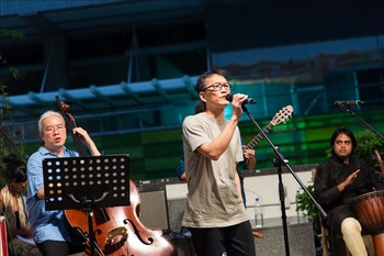 Image: Billy from 'mininoise', a grassroots folk band in Hong Kong.