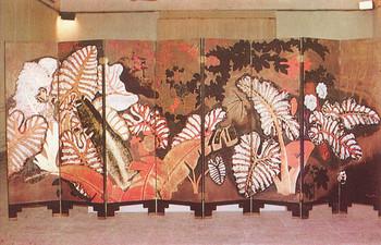 Image: Nguyễn Gia Trí, <i>Phong Cảnh</i> [<i>Landscape</i>], 1939, lacquer, 160 x 400 cm