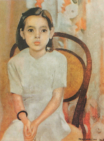 Image: Trần Văn Cẩn, <i>Em Thúy</i> [<i>Little Thuy</i>], 1943, oil on canvas, 43 x 54 cm