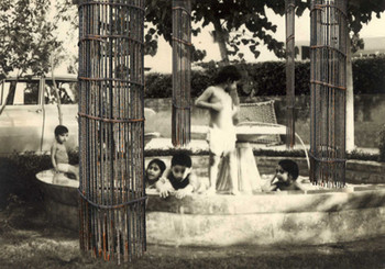 Detailed view of Farida Batool, <i>Qadam Qadam Azad (Freedom step by step)</i>, 2008, lenticular print, image courtesy of the artist.
