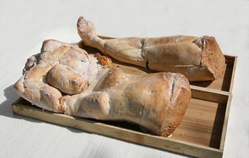 Nausheen Saeed, <i>Baked Delicacies</i>, 2008, baked bread, image courtesy of the artist.