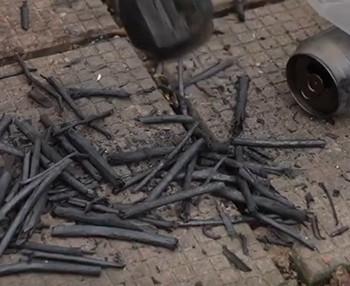 Image: Exercise of burning charcoal. Courtesy of Cheng Yee Man.