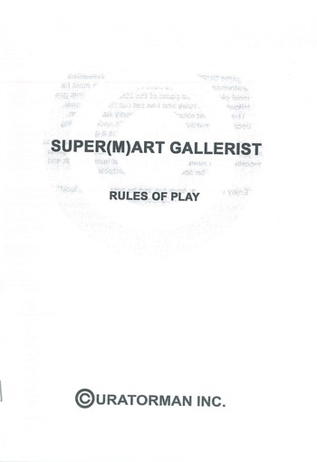 Super(m)art Gallerist Rules of Play_Cover