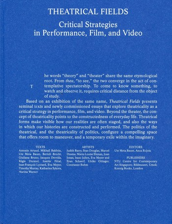 Theatrical Fields — Critical Strategies in Performance, Film, and Video