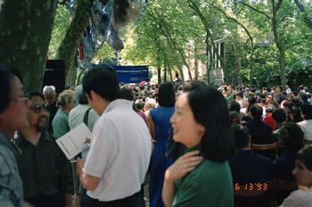 Li Xianting, Kong Chang'an, Xu Bing at the Opening of the 45th Venice Biennale