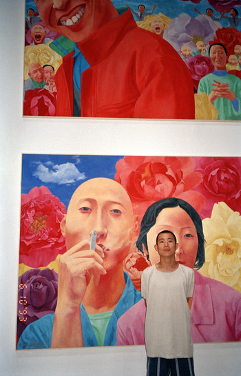 Fang Lijun with His Works
