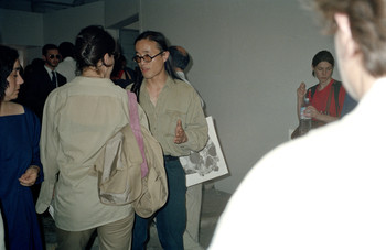 Wu Shanzhuan at the Opening Exhibition of the Passage to the East
