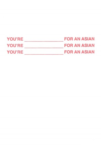 You're ____ for an Asian_Cover