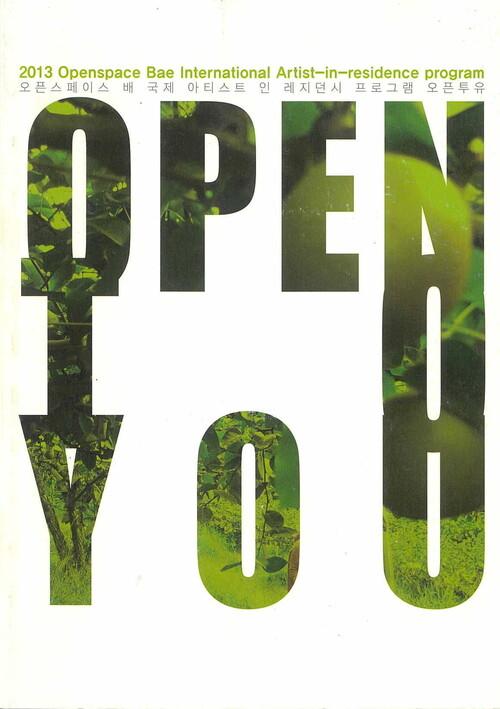 2013 Openspace Bae International Artist-in-residence Program OPEN TO YOU