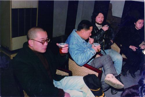 Wang Qiuren, He Yang and Zhou Tiehai in 'Ape Exhibition'
