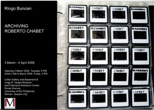Archiving Roberto Chabet — Exhibition Invitation