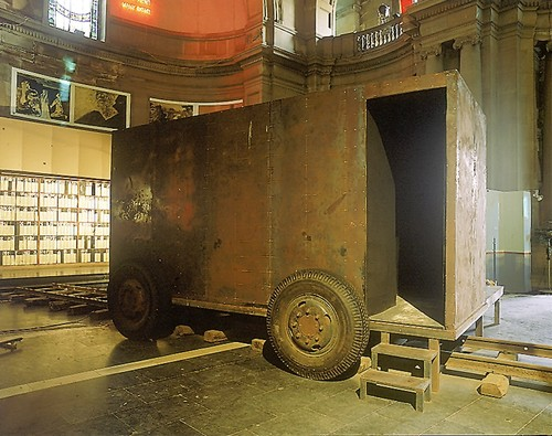 Structures of Memory: Modern Bengal — Iron Container with Sound Chamber, Agit-Prop Stage for Contemp
