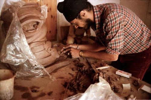 Prithpal Singh Sehdave Ladi at Kasauli Art Centre Sculpture workshop