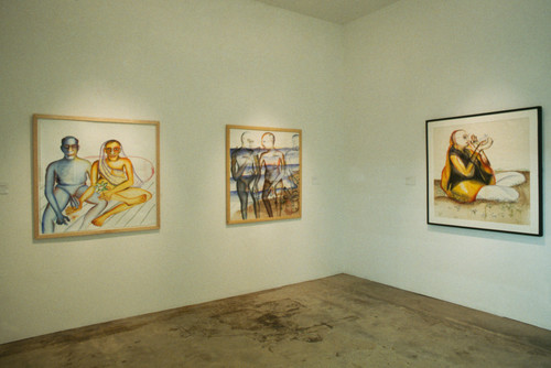 Paintings by Bhupen Khakhar (Exhibition view)