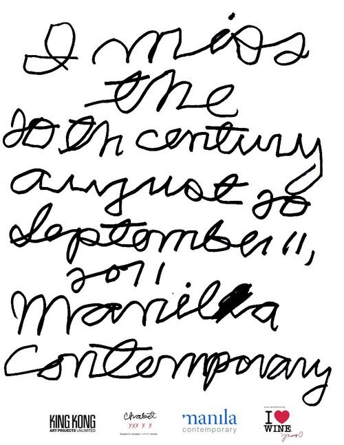 I Miss The 20th Century — Exhibition Invitation