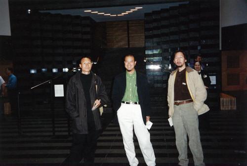 Mao Xuhui, Ye Yongqing, and Wang Guangyi at Inside Out: New Chinese Art