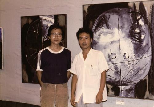 Zhang Jianjun and Li Shan in '83 Experimental Painting Exhibition