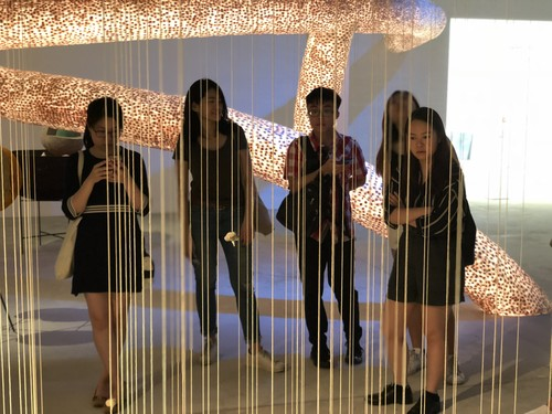 Image: Outing to exhibition at Tai Kwun, Internship Programme, 2018.